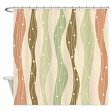 Wavy Pattern Shower Curtain