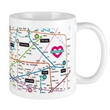 Love Map Small Mugs