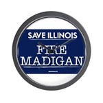 Fire Madigan Wall Clock