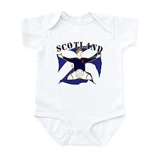 Scotland Saltire Footballer Celebrate Infant Bodys