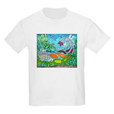 Fish painting by Nancy Porter. Kids Light T-Shirt
