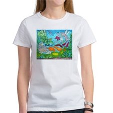 Fish painting by Nancy Porter. Women's T-Shirt