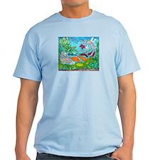 Fish painting by Nancy Porter. Light T-Shirt