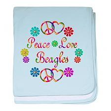 Beagles baby blanket