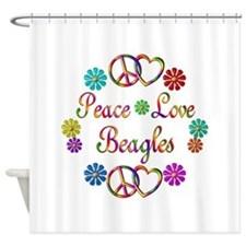Beagles Shower Curtain
