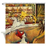 Georges Seurat Circus Shower Curtain