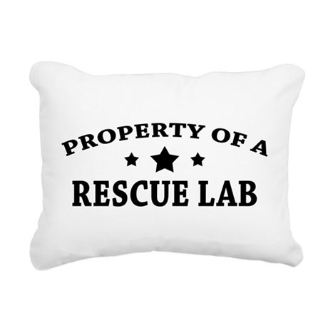 Property of a Rescue Lab Rectangular Canvas Pillow