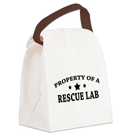 Property of a Rescue Lab Canvas Lunch Bag