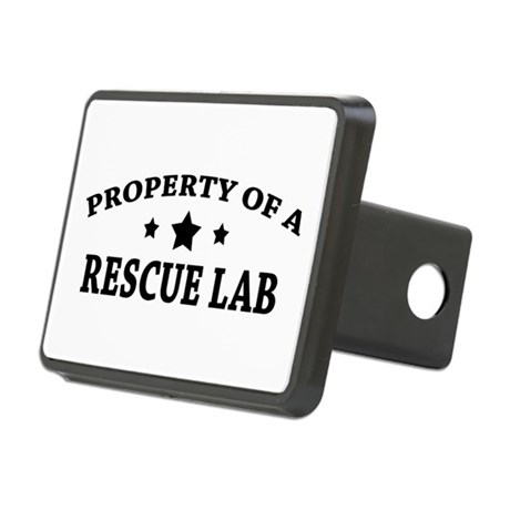 Property of a Rescue Lab Rectangular Hitch Cover