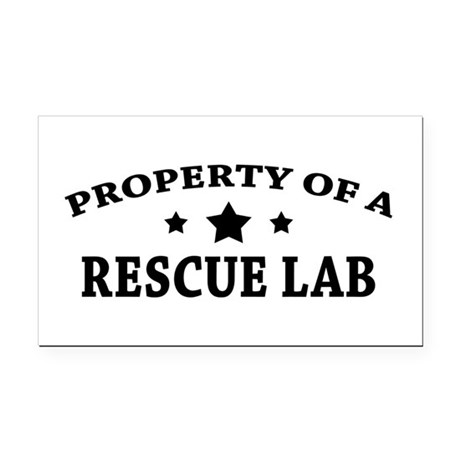Property of a Rescue Lab Rectangle Car Magnet