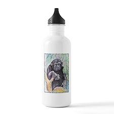 Chimpanzee! Wildlife art! Water Bottle