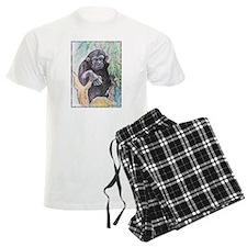 Chimpanzee! Wildlife art! Pajamas