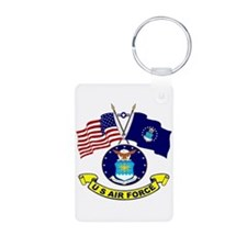 USAF-USA Flags Keychains