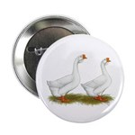 """White African Geese 2.25"""" Button (100 pack)"""