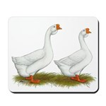 White African Geese Mousepad