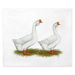 White African Geese King Duvet