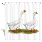 White African Geese Shower Curtain