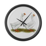 White African Geese Large Wall Clock