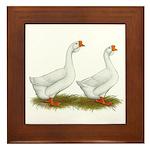 White African Geese Framed Tile