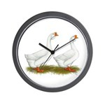 White African Geese Wall Clock