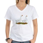 White African Geese Women's V-Neck T-Shirt