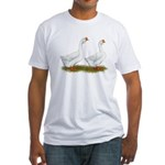White African Geese Fitted T-Shirt