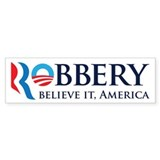 Robbery 2012 Parody Car Sticker