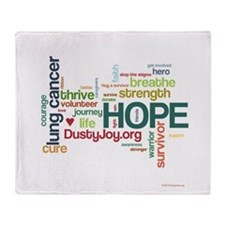 Lung Cancer Word Art (lt) Throw Blanket