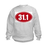 31.1 50k oval red decal sticker Sweatshirt