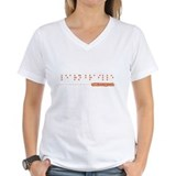 &quot;Learn Braille&quot; Ladies T Shirt T-Shirt