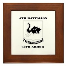DUI - 4th Bn 64th Armor with Text Framed Tile