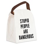 Stupid People Canvas Lunch Bag