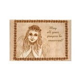 Praying Angel Rectangle Magnet