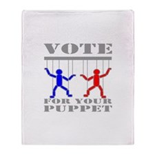 Vote For Your Puppet Throw Blanket