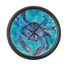 Blue Crab Large Wall Clock
