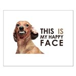 Happy Face Dachshund Small Poster