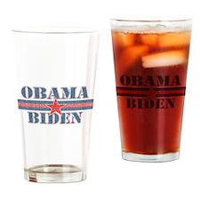 Obama Biden Distressed Drinking Glass