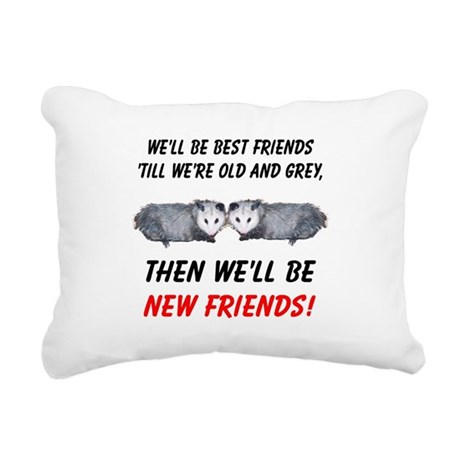 bestfriends5.png Rectangular Canvas Pillow