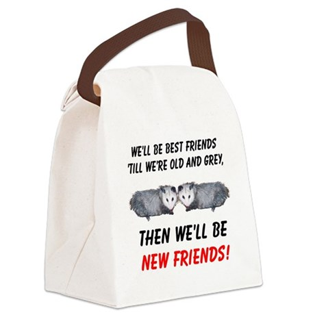 bestfriends5.png Canvas Lunch Bag