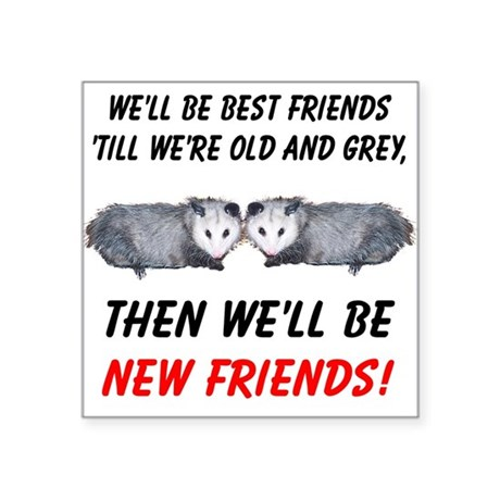 "bestfriends5.png Square Sticker 3"" x 3"""
