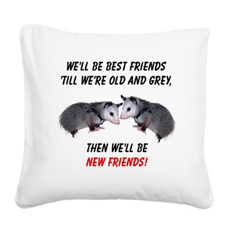 bestfriends4.png Square Canvas Pillow
