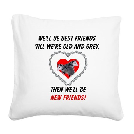 bestfriends3.png Square Canvas Pillow