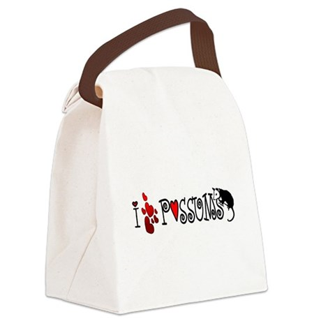 lovepossums2.png Canvas Lunch Bag
