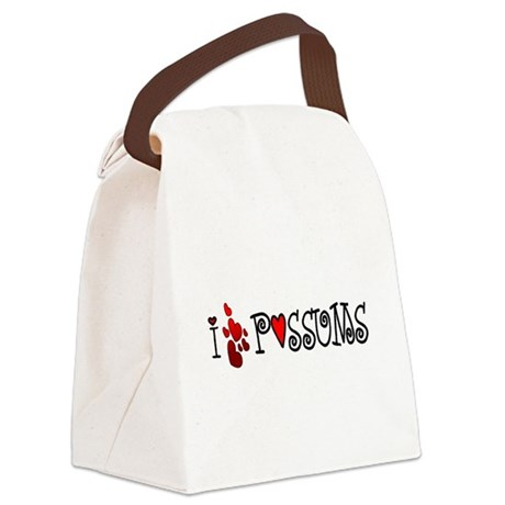 lovepossums1.png Canvas Lunch Bag