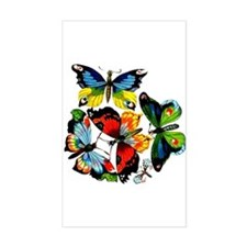 Flock Of Butterflies Rectangle Decal