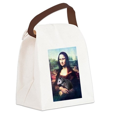monalisa2acd.png Canvas Lunch Bag