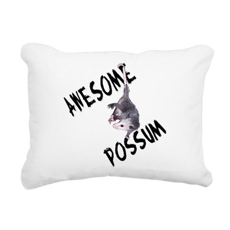 possum32a.png Rectangular Canvas Pillow