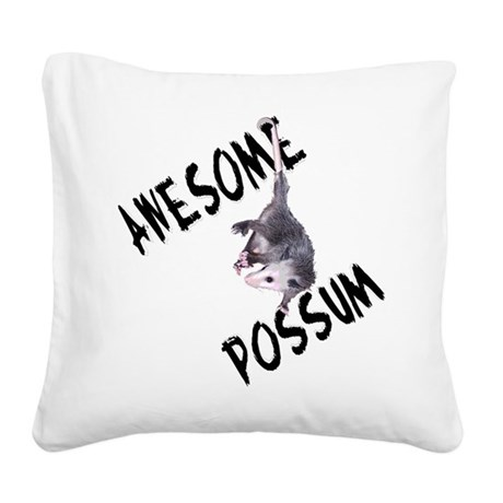 possum32a.png Square Canvas Pillow
