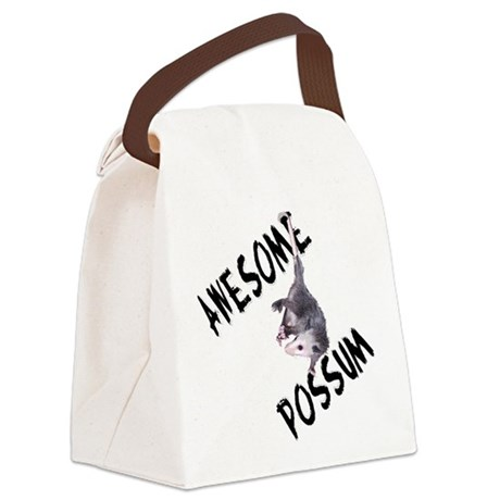 possum32a.png Canvas Lunch Bag