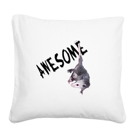 possum32b.png Square Canvas Pillow